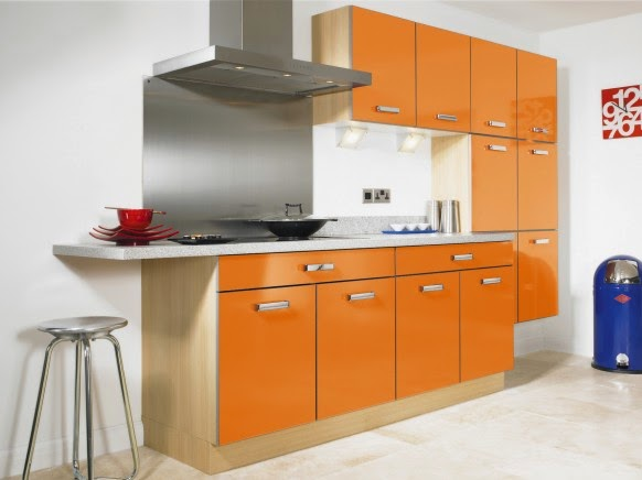 Amazing kitchen orange colors 2014