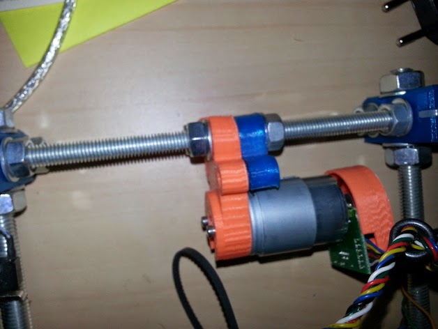 Diy 3d printing using dc motors to replace steppers on x for A 2 z motors
