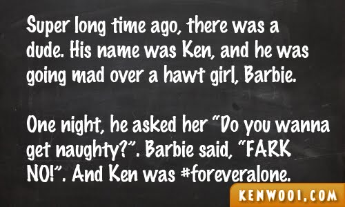 blackboard ken barbie 2