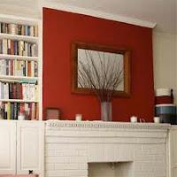 Consigli per la casa e l 39 arredamento imbiancare casa for Parete rossa soggiorno