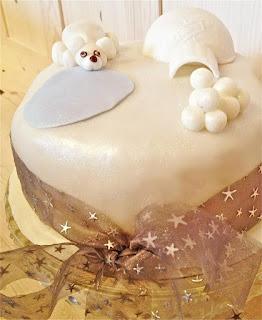 Christmas Cake Decoration Icing : Jo s Blue AGA: Icing and Decorating Christmas Cakes