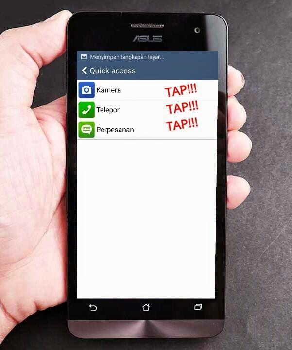 Quick Acess Tap Asus Zenfone