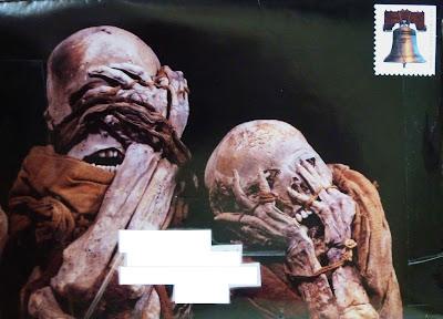 Skeleton Mail Art