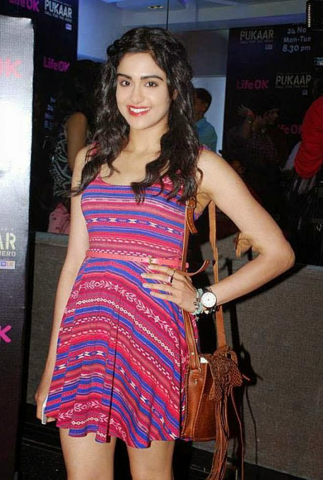 Adah Sharma Photo In Short Mini Dress