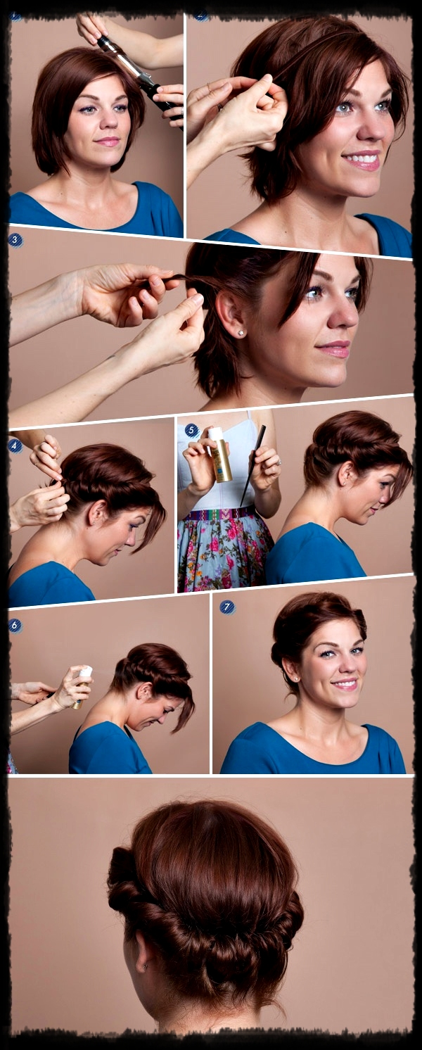 Cute Easy Faux Updos For Short Hair