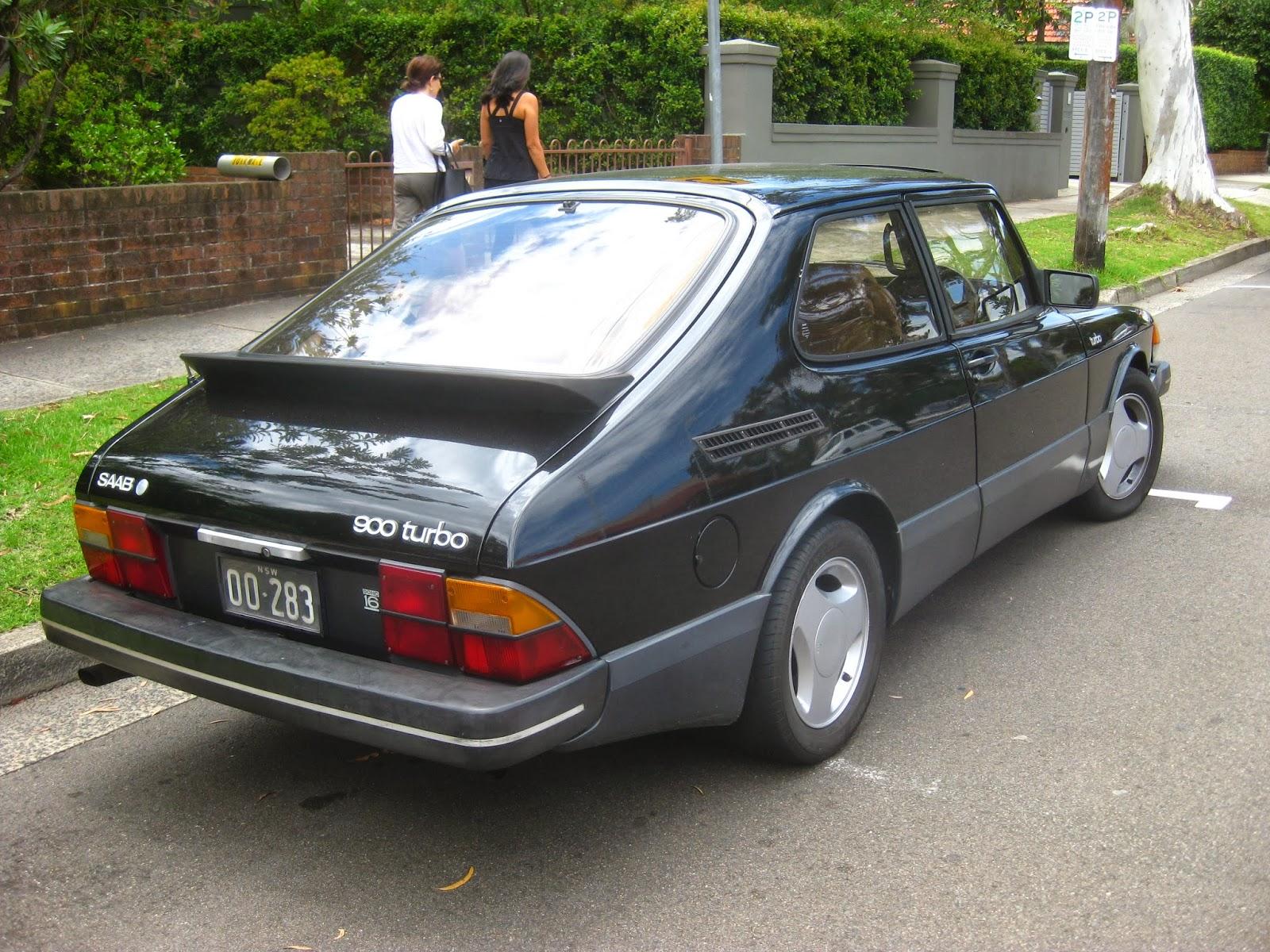 Aussie Old Parked Cars  1985 Saab 900 Turbo 16v 3
