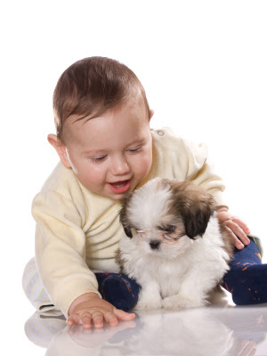 Baby with pet Photo to Download freely