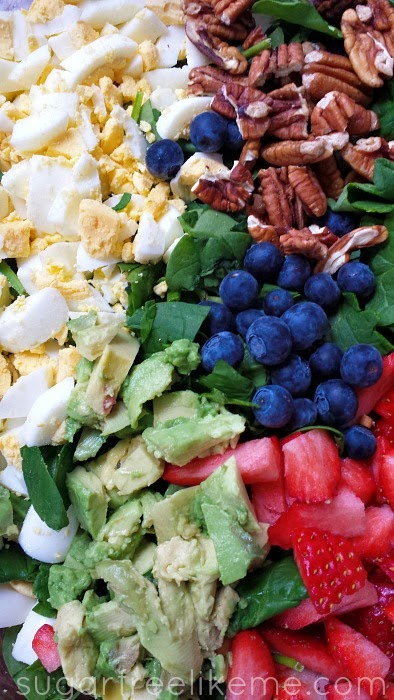 Mixed Fruit and Nut Salad with Low Carb Dressing
