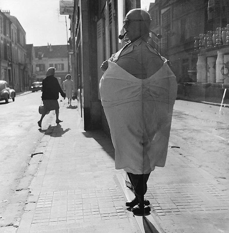Divertidas fotografía urbanas en blanco y negro de René Maltête
