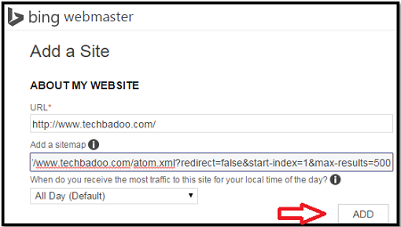 get more traffic by adding sitemap to bing