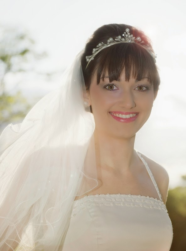 The lovely bride, Gemma. Photographed with a Nikon D3s