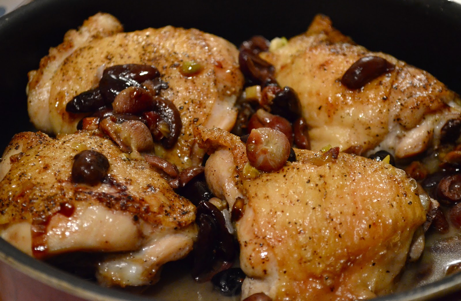 Harvest Roast Chicken with Grapes, Olives, and Rosemary: by the ...