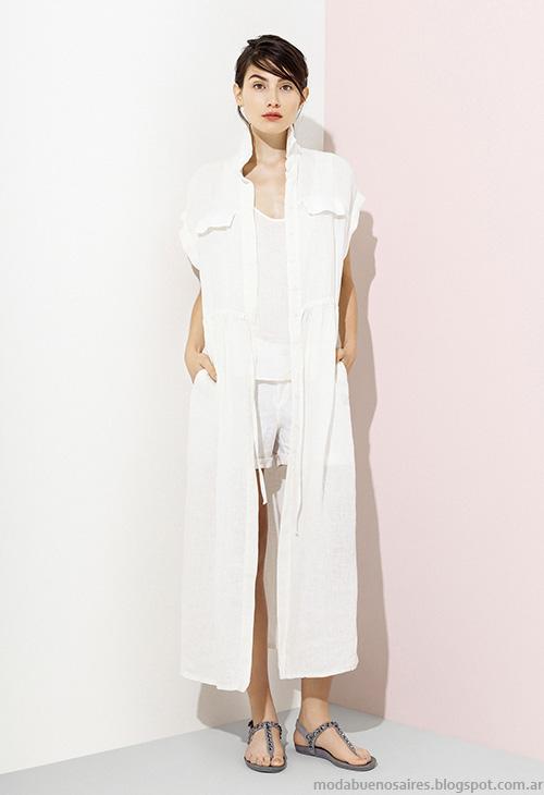 Camisas largas moda verano 2016 Graciela Naum. Moda 2016.