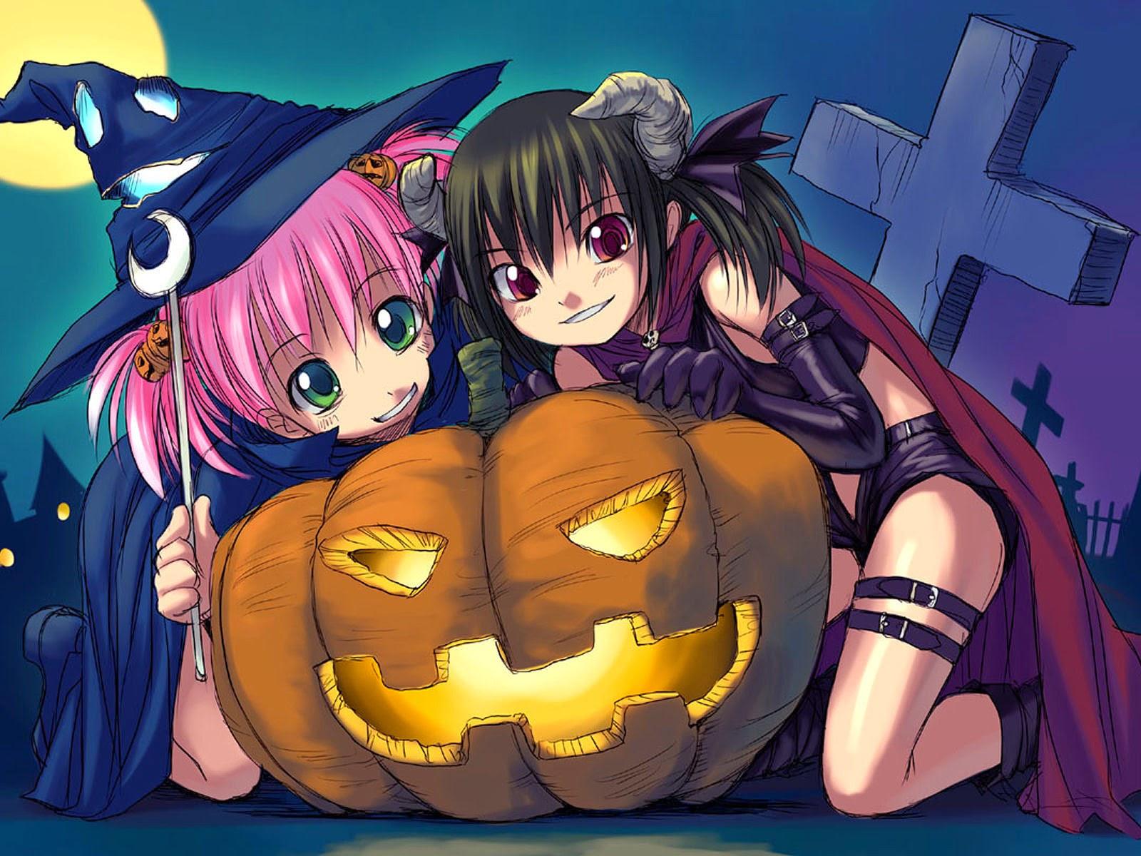 Papel de Parede Anime Halloween Dia das Bruxas