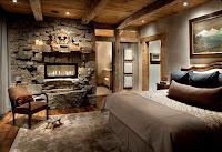 Diseño de interiores rústicos dormitorio