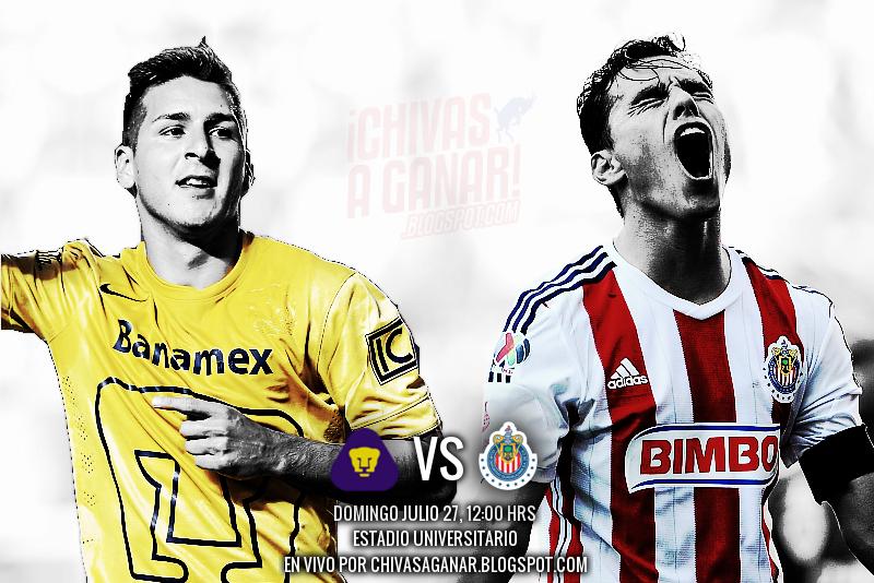 Pumas vs Chivas - Jornada 2 Apertura 2014.