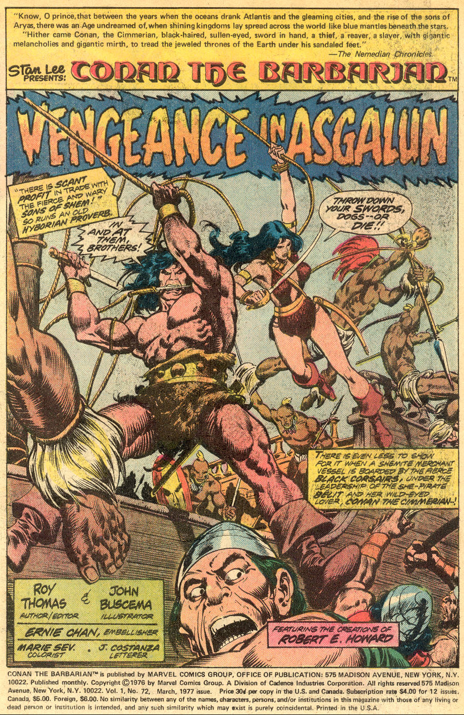 Conan the Barbarian (1970) Issue #72 #84 - English 2