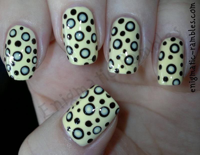 yellow-dots-within-dots-dotticure-nails-nail-art