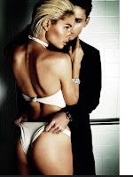Doutzen Kroes posing in white lingerie