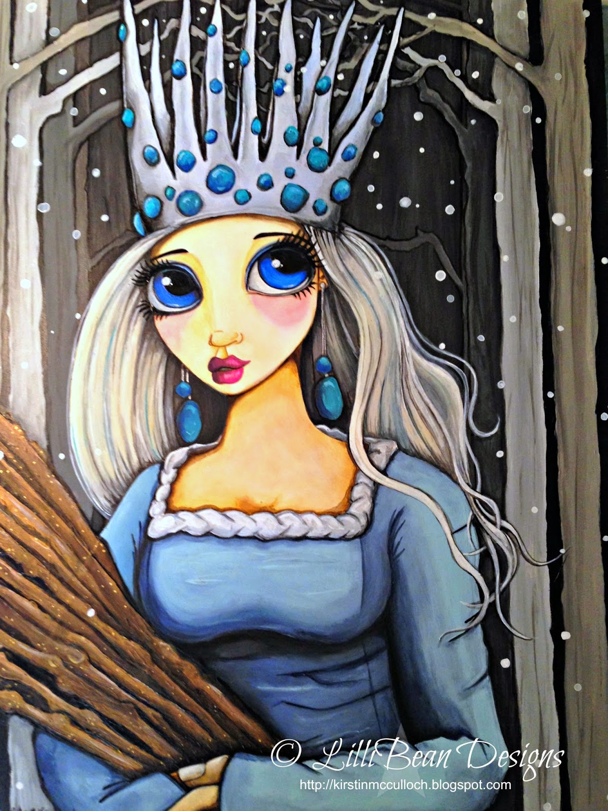 The Winter Princess acrylic on panel