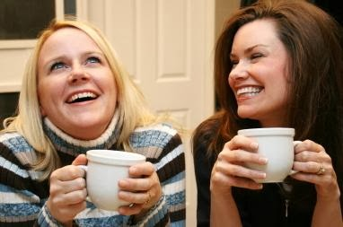 two women girls drink coffee tea hot - Find Your Dating Ally