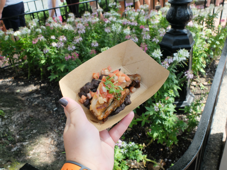 Walt Disney World's Epcot, Food & Wine Festival, Brazil's crispy pork belly and Brazilian cheese bread