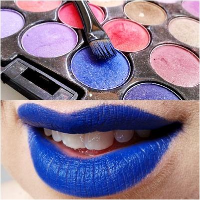 Lábios azuis- você usaria?