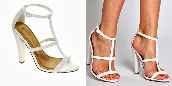 white asos hostage heels