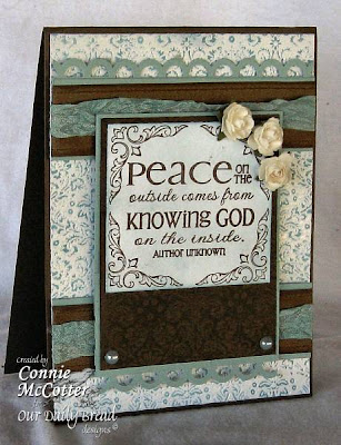 "Our Daily Bread designs ""Peace - the Full of Grace Collection"" Designer Connie McCotter"