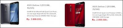 harga terbaru zenfone 2 ze551ML