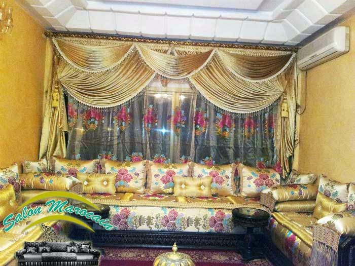 Salon marocain confortable luxueux d coration salon marocain moderne 2016 for Decoration salon marocain moderne 2016
