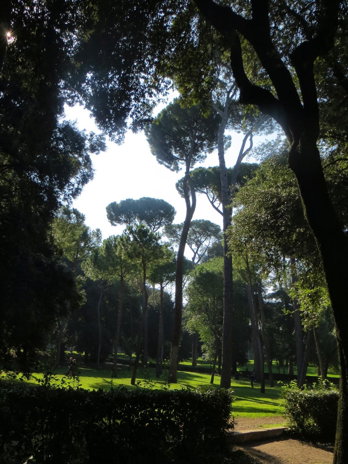 The Borghese Gardens, Rome, Italy