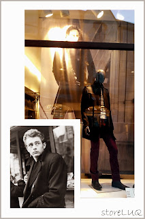 Visual merchandising, store luq, James Dean, mens collection, mens coat