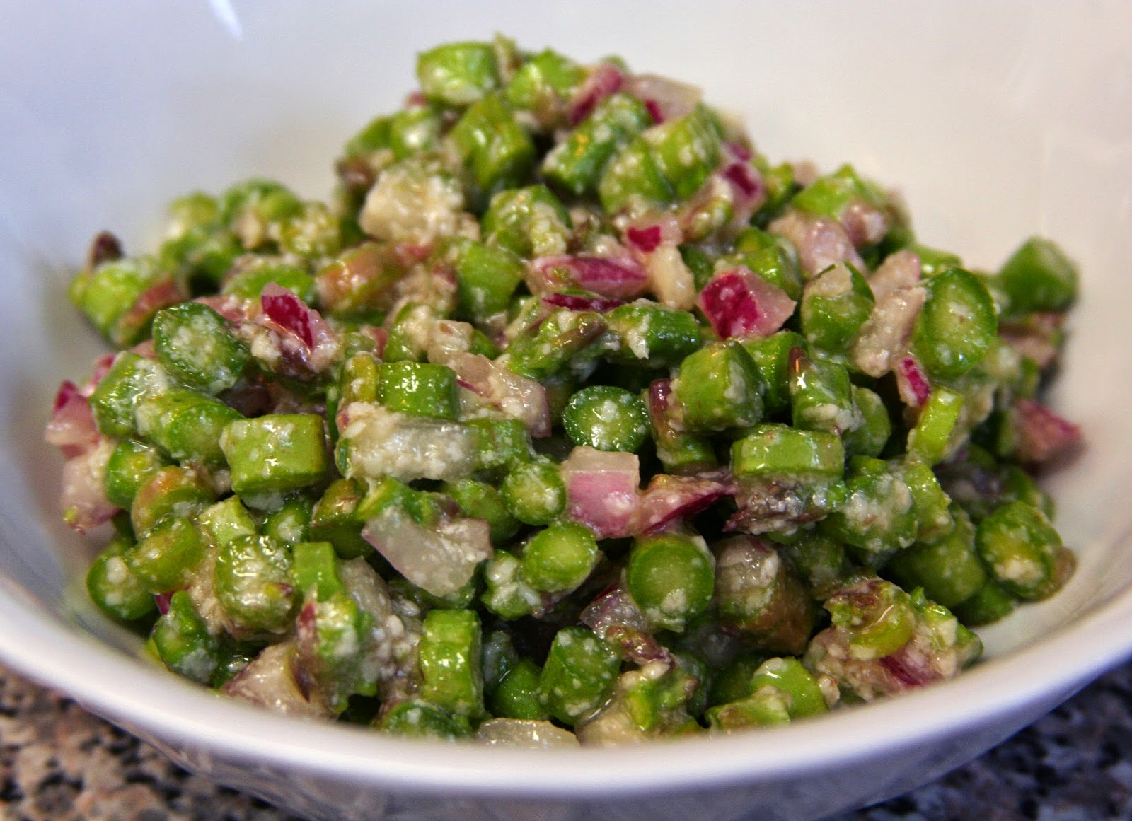 ... Confused: Anne Burrell: Asparagus, Pecorino, and Red Onion Salad