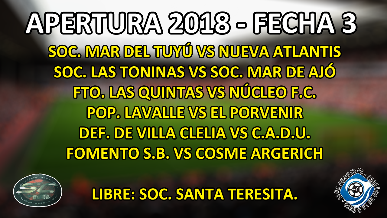 LIGA DE LA COSTA - PRÓXIMA FECHA
