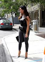 Kim Kardashian waiting for her ride