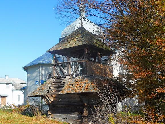 Гериня. Церква Вознесіння Господнього. Дерев'яна дзвіниця