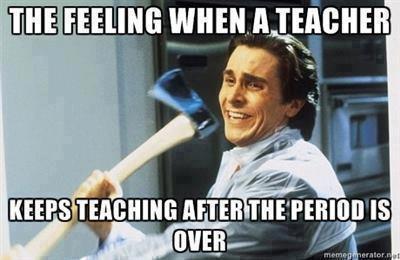 The Feeling When A Teacher