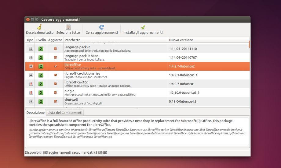 MintUpdate in Ubuntu