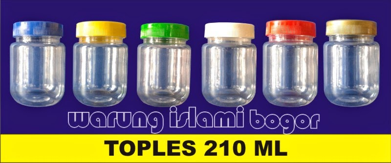 Jual Aneka Toples Plastik Bulat PET 200ml