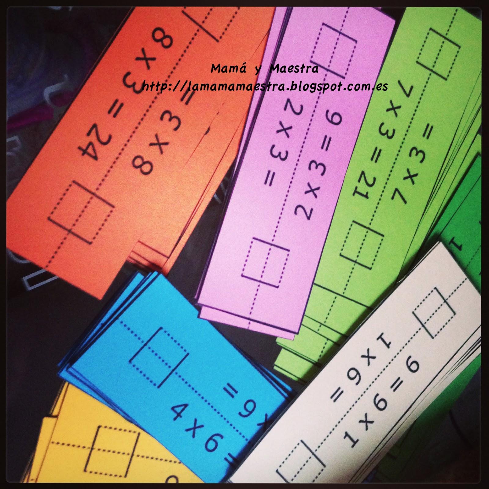 Mamá y Maestra: Torre de tablas de multiplicar