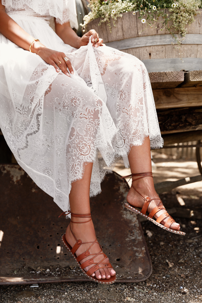 J CREW studded lace-up gladiator sandals