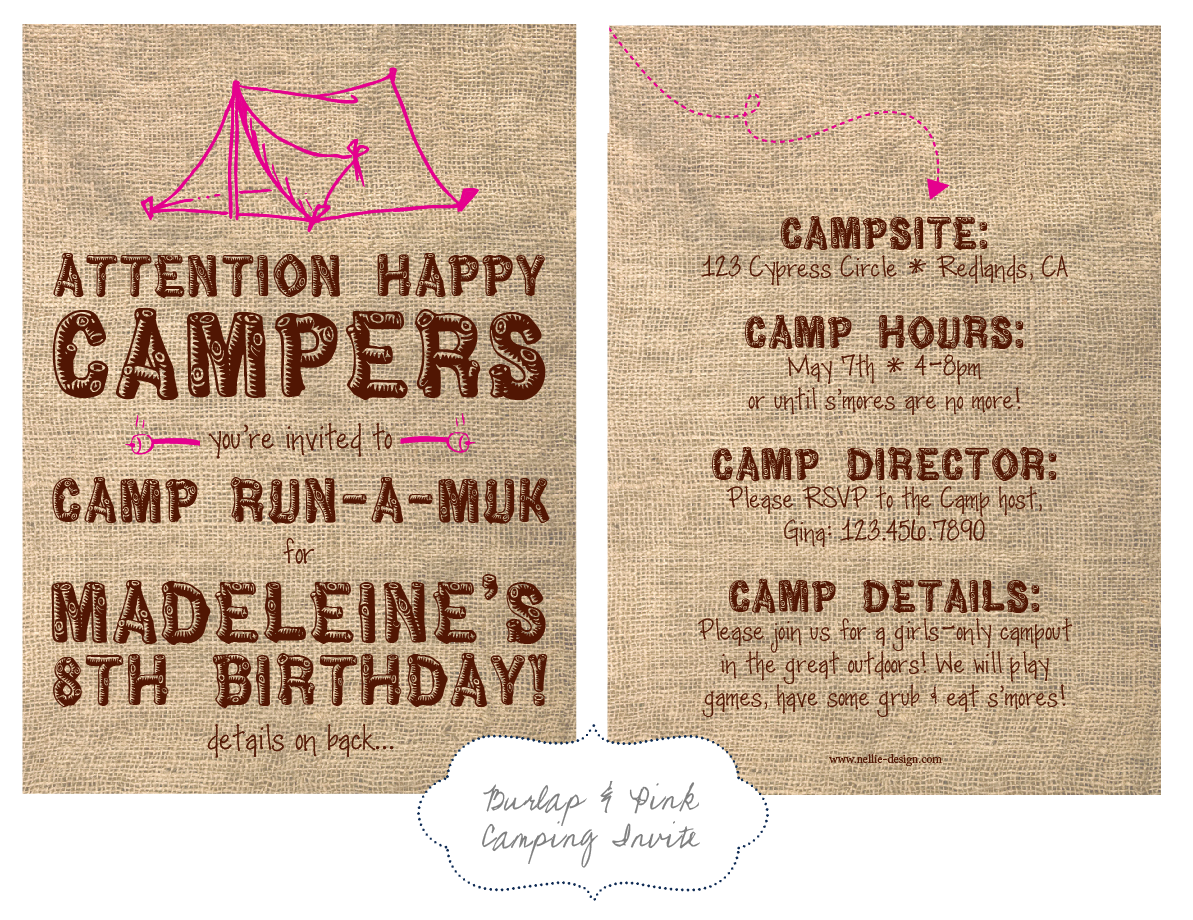 Campout Birthday Party Invitations as amazing invitation ideas
