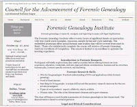 Council for the Advancement of Forensic Genealogy