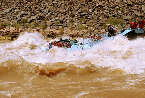 Colorado river raft running rapids by Selep Imaging