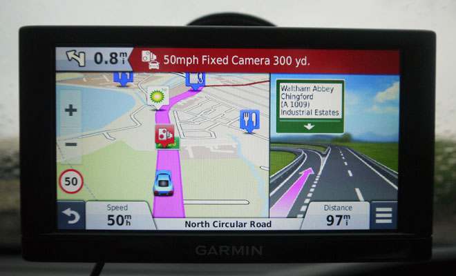 Garmin Nuvi 65LM lane guidance
