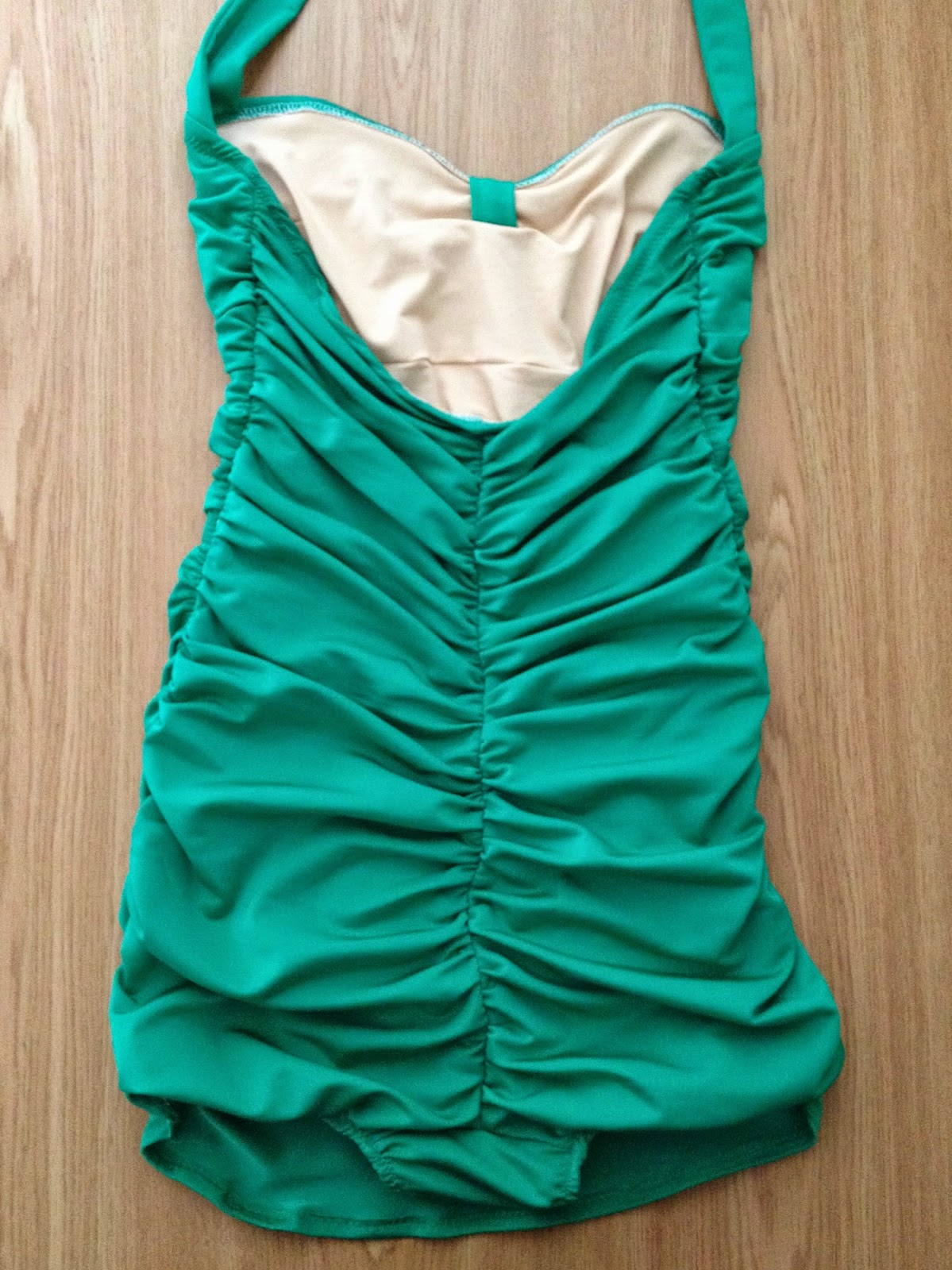 Diary of a Chainstitcher: Emerald Green Bombshell Swimsuit