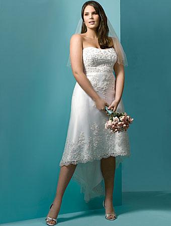 Sayumi plus size short wedding dresses for Plus size wedding dresses short