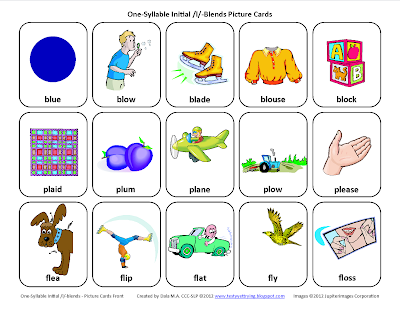 K Words For Kids Testy yet trying: L-Blends (/bl/, /pl/, /fl/): Free Speech Therapy ...