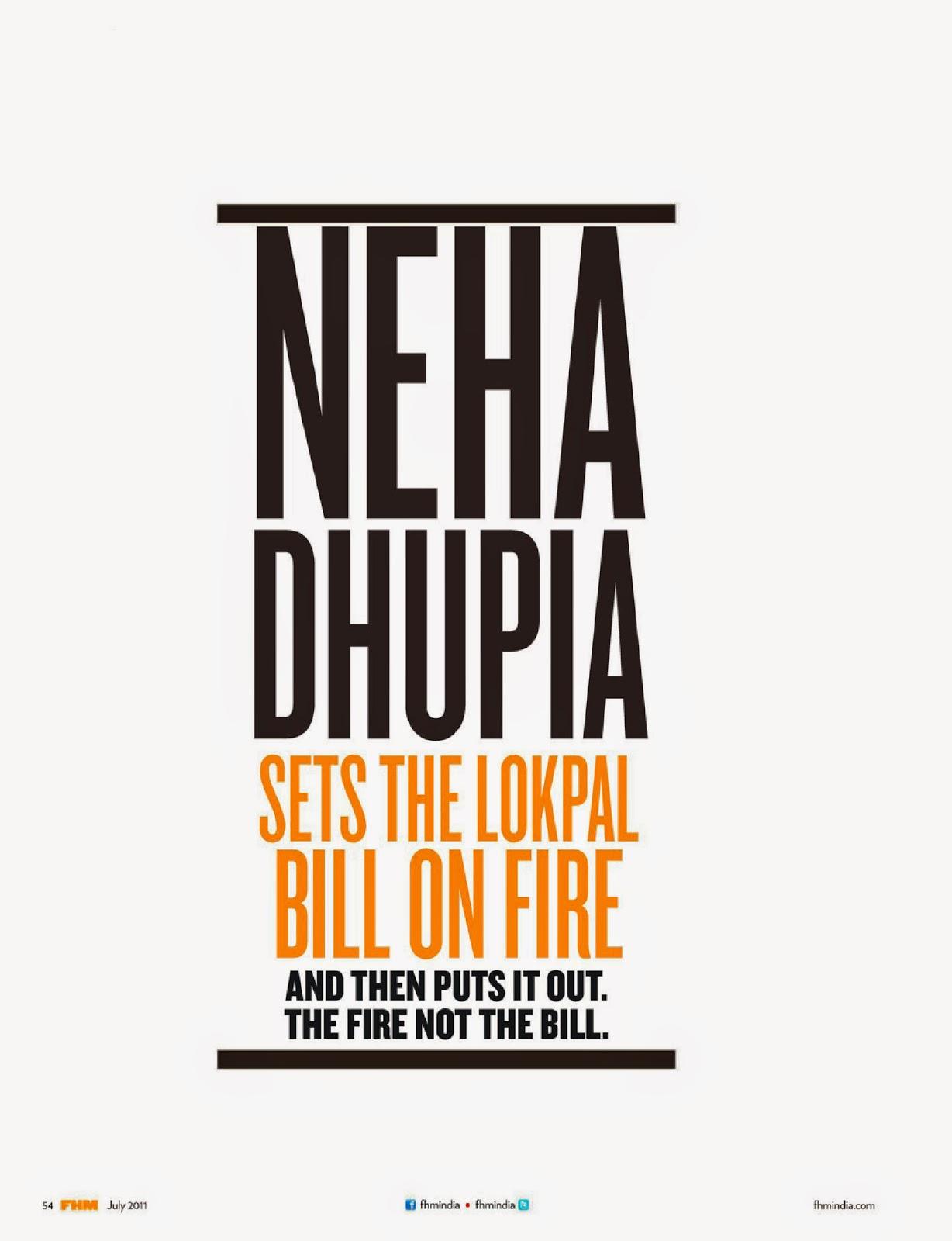 Neha Dhupia's FHM July 2011 Photo-shoot
